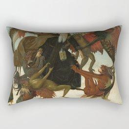 Michelangelo - The Torment of Saint Anthony Rectangular Pillow