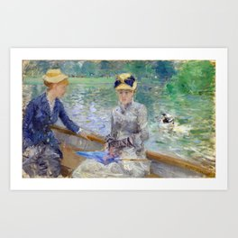 The Lake in the Bois de Boulogne Art Print