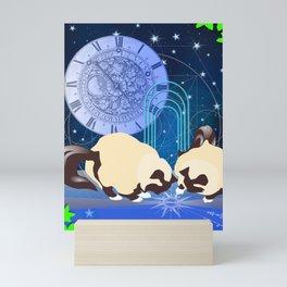 The Boy Cats Study Cosmology Mini Art Print