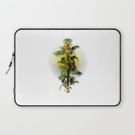 growing power, royal scepter with palm tree in front of aureole Laptop Sleeve