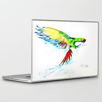 military Laptop & iPad Skins featuring Military Macaw by ARealpe