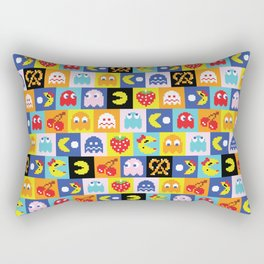 Pac-Man Pattern Rectangular Pillow