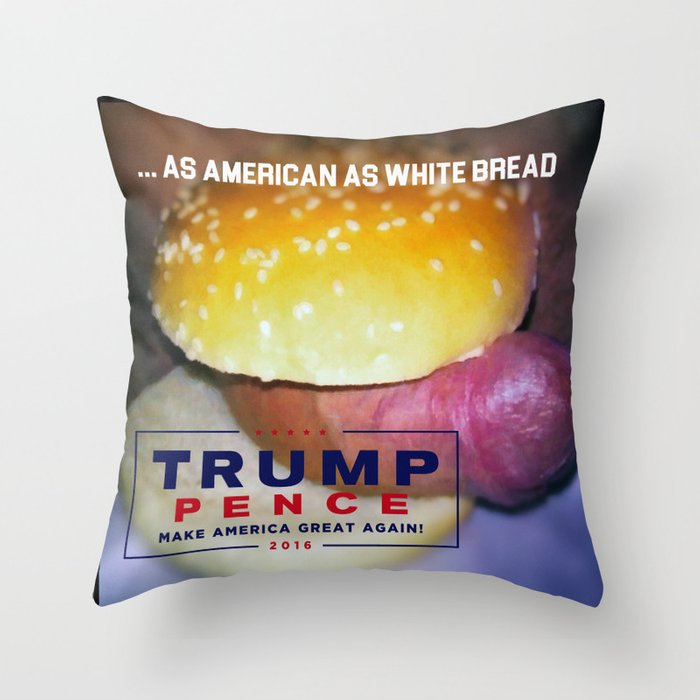 Donald Trump for Trump Steaks Throw Pillow
