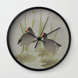 Florida Gallinules Wall Clock