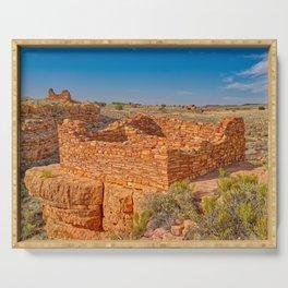Box Canyon Indian Dwellings at Wupatki National Monument AZ Serving Tray