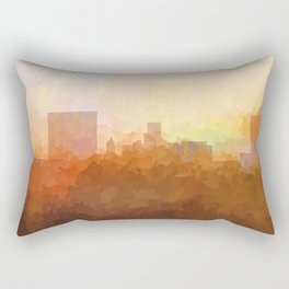 Augusta, Georgia Skyline - In the Clouds Rectangular Pillow