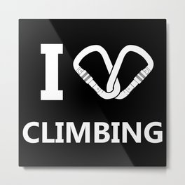 I Love Climbing Metal Print