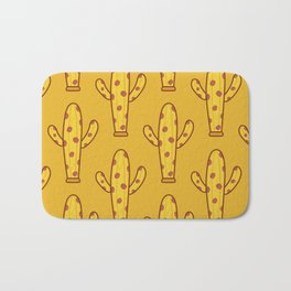 Pizza And Cactus Love Bath Mat