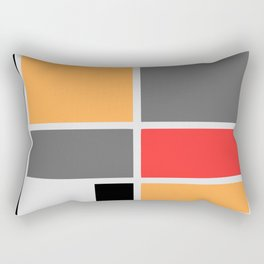 Mondrianista orange red black and gray Rectangular Pillow