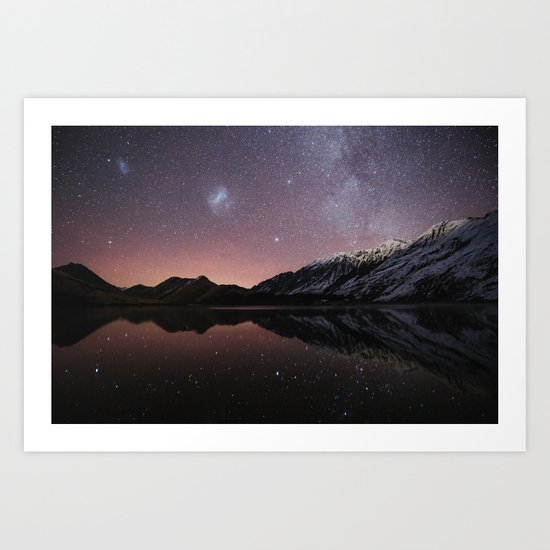 Moke Lake Art Print