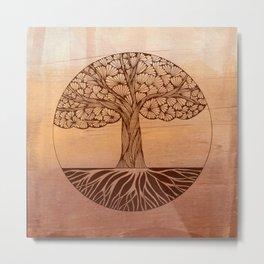 The Zen Tree Metal Print