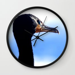 Cormorant Headshot Wall Clock