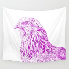 she's a beauty drawing, purple Wall Tapestry