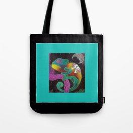 Midnight Chameleon Tote Bag