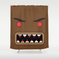 werewolf Shower Curtains featuring Werewolf by Visual Heist