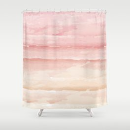 Shades of Pink Stripes Shower Curtain