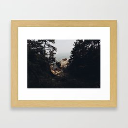 OCEAN CLIFF  Framed Art Print