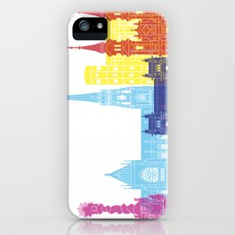 Linz skyline pop iPhone Case