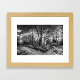 Highgate Cemetery London Framed Art Print