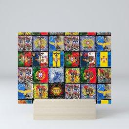 Portuguese art collage Mini Art Print