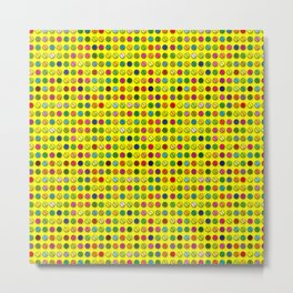 Multi-coloured Pills Pattern Metal Print