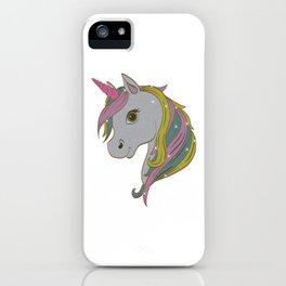Perfect Gift Tee With An Illustration Of A Unicorn T-shirt Design Magical Mythical Colorful Clouds iPhone Case