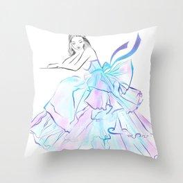 Ball Gown Throw Pillow