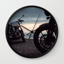 Moto sunset Wall Clock
