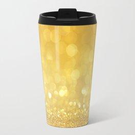 Golden bokeh light Travel Mug