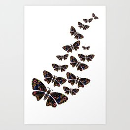 Authentic Aboriginal Art - Butterflies Art Print