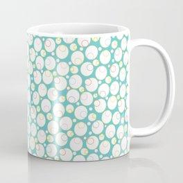 Mini Water Bubbles in Teal Coffee Mug