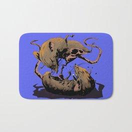 rat fight Bath Mat