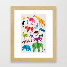 Paper Animals Framed Art Print