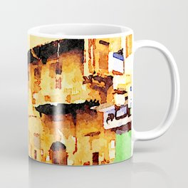 Aleppo: car and buildings in the street Coffee Mug