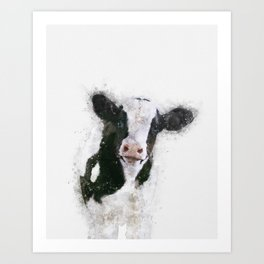 Holstein Cow Watercolor Art Print