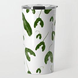 Maple Seeds - Green and White Travel Mug