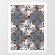 Frenchie Yoga Tessellations Art Print