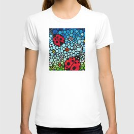 Joyful Ladies - Charming Lady bugs by Labor of Love artist Sharon Cummings T-shirt