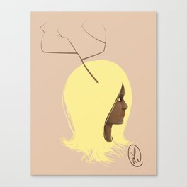 Deer girl Canvas Print