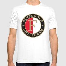 Feyenoord Rotterdam MEDIUM White Mens Fitted Tee