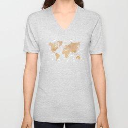 World Map Oceans Life blue #map #world Unisex V-Neck