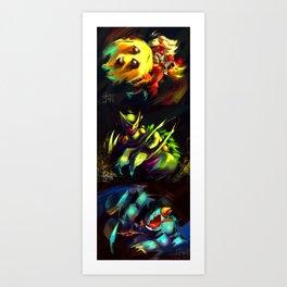 Gen 3 Final Evolution Starters [Full Collection] Art Print