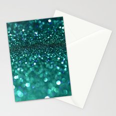 turquoise glitter Stationery Cards