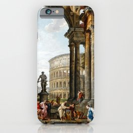 Giovanni Paolo Panini The Philosopher Diogenes Throwing Down His Bowl iPhone Case