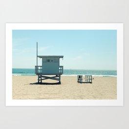 Manhattan Beach Lifeguard Tower Art Print