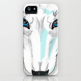 Darrell Merrill Nerd Artist Winter Wolf iPhone Case