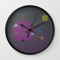 compass Wall Clocks featuring Compass by Last Call