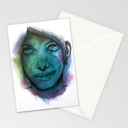 Colourful face Stationery Cards