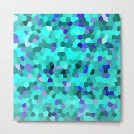 Mosaic in Turquoise, Blue and Teal Metal Print