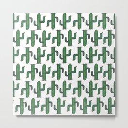 Walk Like a Cactus(ian) - Abstract Cacti Metal Print